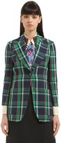 Gucci Tiger Patch Plaid Wool Jacket