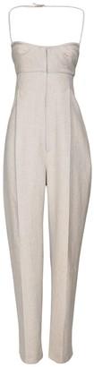 Jacquemus Linen & Viscose Wide Leg Jumpsuit