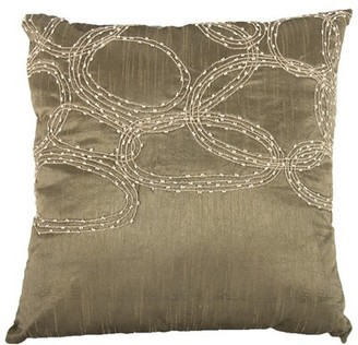 Winston Porter Shattuck Cotton Throw Pillow Cover & Insert Color: Gray/Silver
