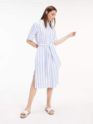 Tommy Hilfiger Short Sleeve Belted Shirt Dress