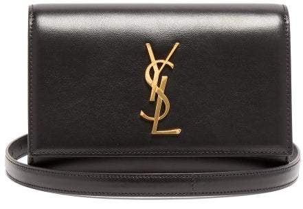 Saint Laurent Kate Leather Belt Bag - Womens - Black