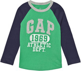 Gap Parrot Green Logo Graphic Baseball Tee
