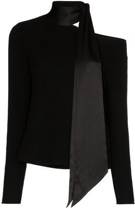 RtA Millie scarf cashmere jumper