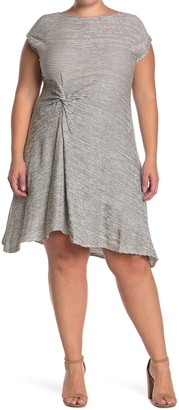 Max Studio Side Knot Short/Midi Dress