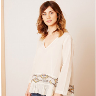Stella Forest White Embroidered Tunic - 36