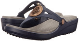 Crocs Sanrah Circle Wedge Flip