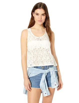 Cover Girl Women's Lace Tank Top Sexy Flowy Slimming Cute fit Cropped USA