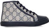 Gucci California canvas and leather high-top trainers 5-8 years