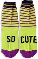 LittleMissMatched Purple & Lime 'So Cute' Socks