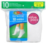 Fruit of the Loom Women's Plus-Size 10 Pack Ankle Socks
