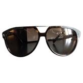 Christian Dior Brown Plastic Sunglasses