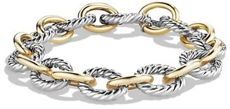 David Yurman Large Oval Link Bracelet with 18K Yellow Gold