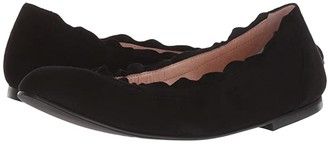 French Sole Cuff Flat (Black Suede) Women's Shoes