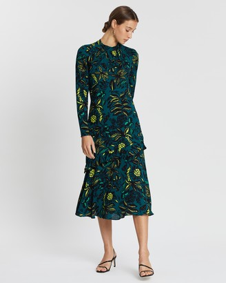 Whistles Assorted Leaves Dress