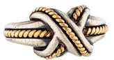 Tiffany & Co. Two-Tone Signature X Ring