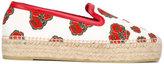 Alexander McQueen poppy print espadrilles - women - Cotton/Leather/Straw/rubber - 36