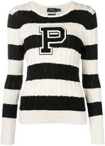 Polo Ralph Lauren striped cable knit sweater