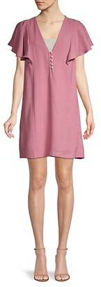 BCBGeneration Flutter-Sleeve Mini Shift Dress