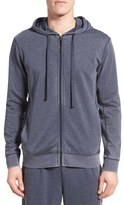 Daniel Buchler Men's Washed Cotton Blend Zip Hoodie
