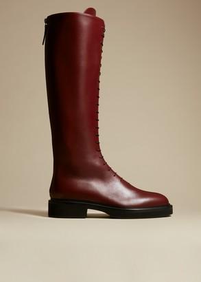 KHAITE The York Boot in Bordeaux Leather