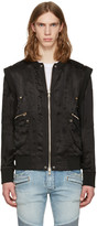 Balmain Black Zip Jacket