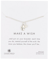 Dogeared Luck Word Sterling Silver Pebble & 2mm Freshwater Cultured Pearl Charm Bracelet