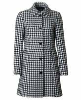 Love Moschino Dog Tooth Check Wool Coat