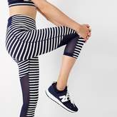 New Balance for J.Crew high-waisted performance capri leggings in stripe with mesh