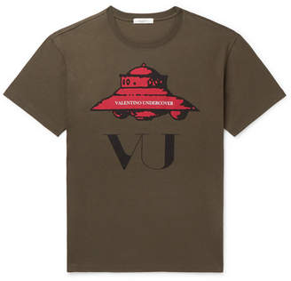 Valentino + Undercover Printed Cotton-Jersey T-Shirt
