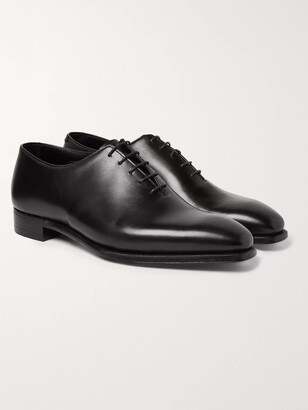 George Cleverley Alan 3 Whole-cut Leather Oxford Shoes - Black