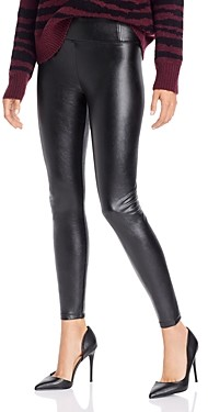 Aqua High-Rise Faux Leather Leggings - 100% Exclusive