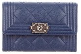 Chanel 2015 Quilted Boy Cardholder