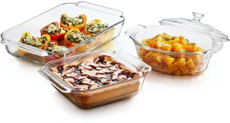 Libbey Baker's Premium 3-Piece Glass CasseroleSet with Cover