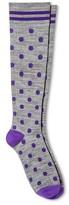 Skinergy Women's Mild Compression Knee High Socks - Polka Dot - Grey One Size Fits Most