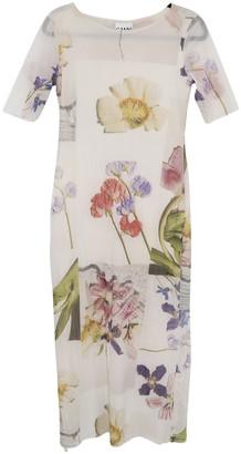Ganni Spring Summer 2019 Ecru Synthetic Dresses