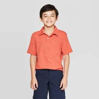 Cat & Jack Boys' Short Sleeve Polo Shirt Rose