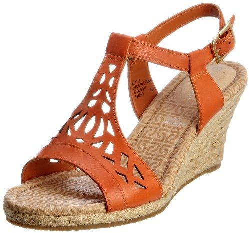 Rockport Women's Emily Laser Cut T-Strap Sandal