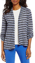 Preston & York Mae Stripe Open Front Cardigan