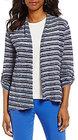 Preston & York-preston york mae stripe open front cardigan