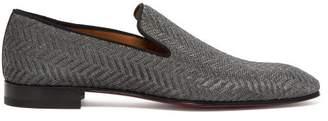 Christian Louboutin Dandelion Chevron Gaufre Loafers - Mens - Silver