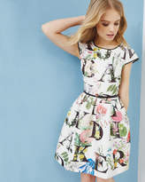 Ted Baker A-z Floral Tulip Dress Ivory