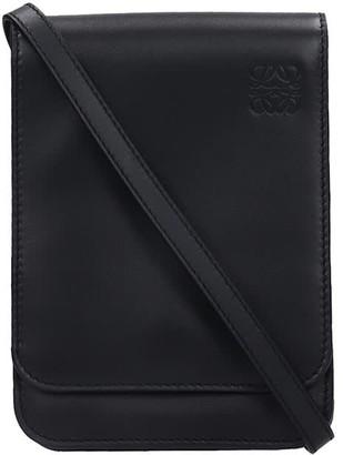 Loewe Shoulder Bag In Black Leather