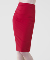 Shape Fx Dark Red Pencil Skirt