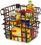Asstd National Brand Seville Classics Iron Slat Stacking & Nesting Storage Baskets, 2-Piece Set
