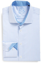 English Laundry Gingham Trim Fit Dress Shirt