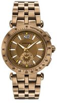 Versace V-Race Sport Bronze-Tone Stainless Steel Bracelet Chronograph Watch
