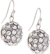 Fragments for Neiman Marcus Pave Crystal Ball Drop Earrings, Silver