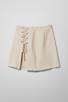 Weekday Ada Denim Skirt - White