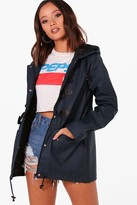 Thumbnail for your product : boohoo Rubberised Rain Mac With Toggles