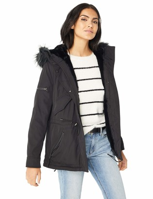 S13 Women's Luxe Mini Canyon Lined Parka with Faux Fur Hood